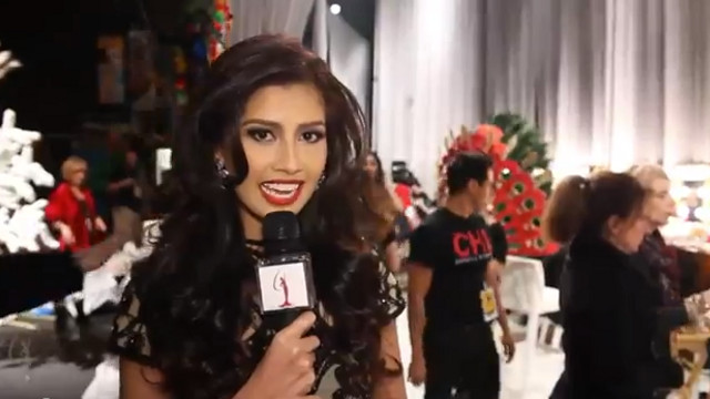 STILL BEAUTIFUL. Miss Universe 2011 runner-up Shamcey Supsup shows support for the Miss Universe 2012 candidates in 'On the Scene.' Screen grab from YouTube (OfficialMissUniverse)