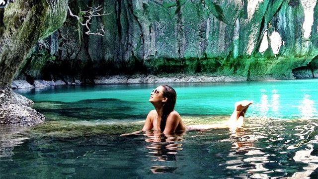 'I could have stayed here all day...a hidden lagoon in Palawan, Philippines :)'