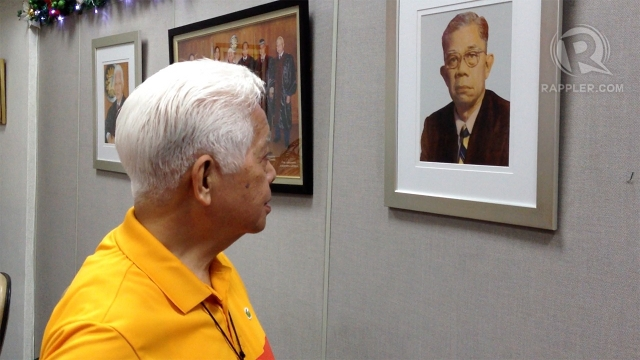 FATHER'S PORTRAIT. It's a reminder for Comelec Chair Sixto Brillantes Jr. Photo by Paterno Esmaquel II
