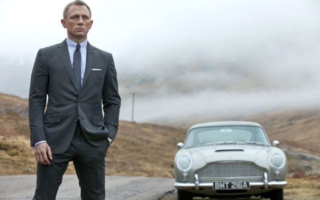 NEW WORLD, OLD FRIENDS. Daniel Craig as James Bond and an Aston Martin DB5. Image from Columbia Pictures