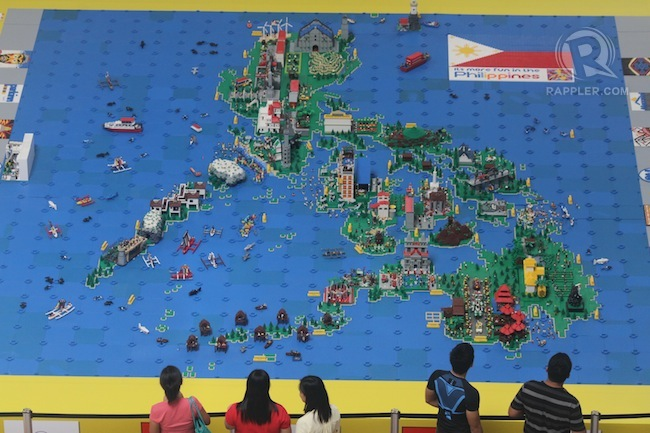 Showcase of PH tourism spots in Lego map – Philippines Tourist Attractions Map