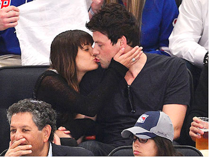 HOT. Lea Michele and Cory Monteith display affection in public. Photo from People