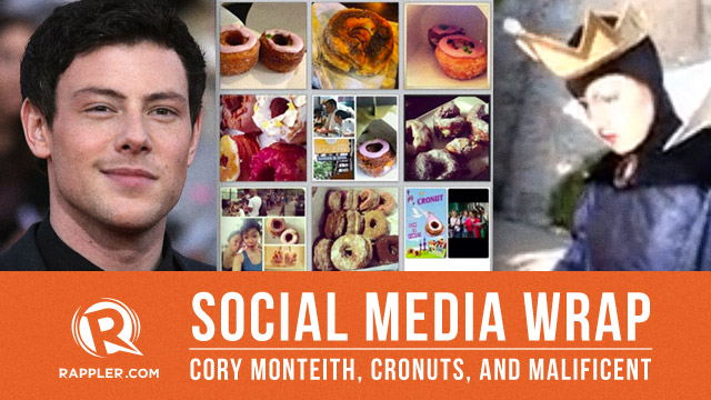Social Media wRap: Cory Monteith, cronuts, and Malificent