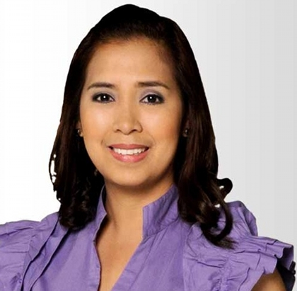 JOURNALIST TO NEWSMAKER. ABS-CBN's Sol Aragones is running for congresswoman of the 3rd district of Laguna. Photo from DZMM's website