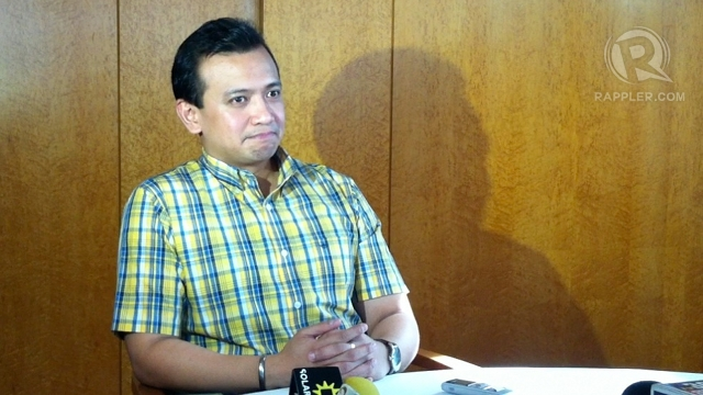 'NO SURPRISE.' Sen Antonio Trillanes IV said he is not surprised Senate President Juan Ponce Enrile excluded him from the list of senators who got P1.6 million each in &quot;further additional&quot; funds under maintenance expenses. Photo by Ayee Macaraig