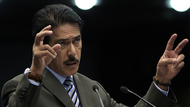 'PLASTICS BANNED.' Senate Majority Leader Tito Sotto says at a time plastics are banned in Metro Manila, why will the Senate legislate the use of condoms? Photo by Joseph Vidal, Senate PRIB