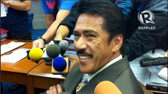 FOR WHAT? Senate Majority Leader Vicente Sotto III does not see a need to apologize to Kerry Kennedy. Photo by Ayee Macaraig