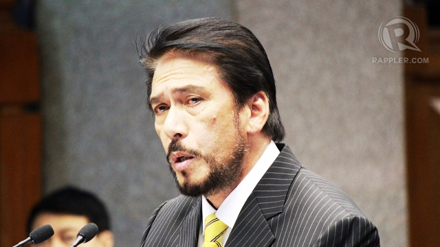 'THAT GOOD.' Senate Majority Leader Vicente Sotto III says if Claudio and Syjuco claim to be better than Senators Cayetano and Santiago, they should be elected to the Senate. Photo by Hoang Vu 