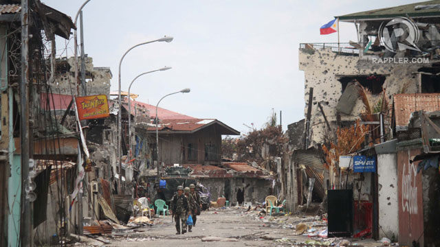 REMNANTS. What is left of Brgy Sta Catalina. Photo by Rappler/Karlos Manlupig