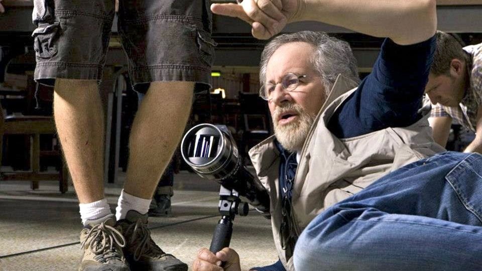 'THEY CAN'T AFFORD ME.' Steven Spielberg on the set of his latest film, 'Lincoln.' Image from the Steven Spielberg Facebook page