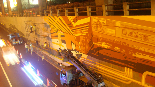 Tapio Snellman's artwork in the Cubao Underpass