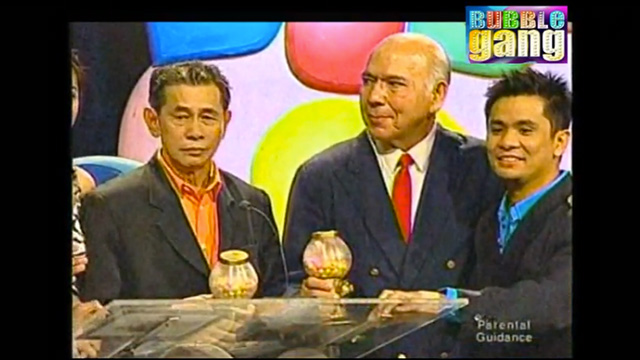 LAUGHTER. The late Subas Herrero, center, in a screen shot of a previous TV appearance