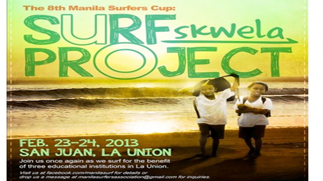 SURF FOR SCHOOLS. Join Manila-based surfers as they ride the waves for the benefit of three public schools in La Union.