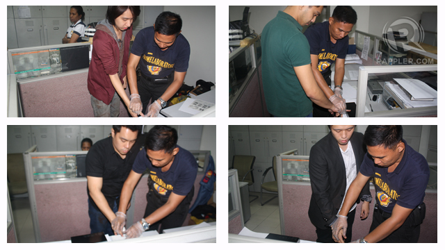 TO BE ARRAIGNED?. From left to right and top to bottom: Galicano Datu III, Crispin de la Cruz, Juan Alfonso Abastillas and Osric Cabrera. Collage by Emil Mercado from images courtesy of Makati police