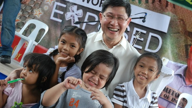 'CARDINAL TAGLE.' Formally appointed a cardinal soon, Manila Archbishop Luis Antonio Tagle is seen to be close to the grassroots. File photo from Tagle's Facebook page, courtesy of Jesuit Communications