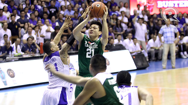 CLUTCH HERO. Teng nails the game-winner. Photo by Rappler/Josh Albelda