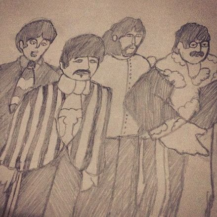DIE-HARD FAN. The Beatles fan art by the 10-year-old writer using pencil