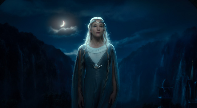 Galadriel (Cate Blanchett) makes a short but powerful appearance in the film