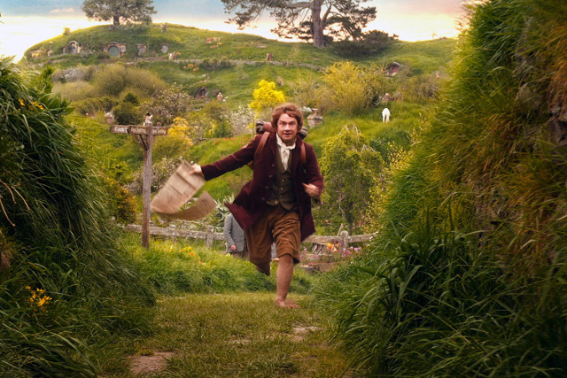 ADVENTURE TIME! Bilbo Baggins (Martin Freeman) decides to go on an adventure. All photos and movie stills courtesy of New Line Cinema and Metro-Goldwyn-Mayer Pictures