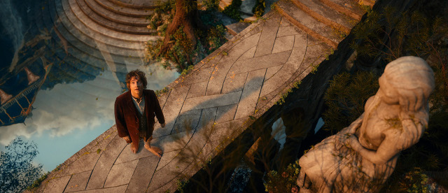 Bilbo first sets foot in the beautiful city of the elves, Rivendell