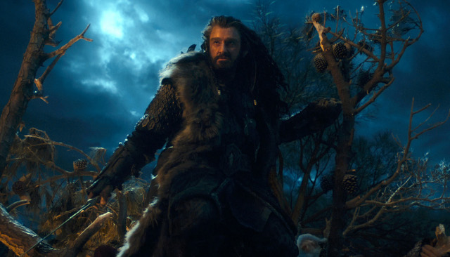 Thorin Oakenshield (Richard Armitage) is the Aragorn-esque figure in 'The Hobbit'