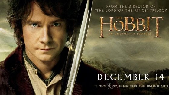 THE HOBBIT AND HIS JOURNEY. Martin Freeman is Bilbo Baggins. Image from The Hobbit Facebook page