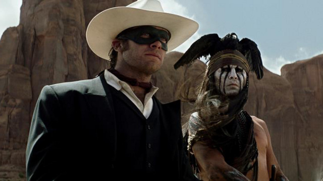 MASKED FOR A DIFFERENT REASON. Armie Hammer as the Lone Ranger and Johnny Depp as Native American Tonto in the 2013 summer flick. Photo from the movie's Facebook page
