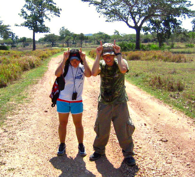 SAFARI DAYS. Mo and Gregg at Calauit Safari Island in 2005