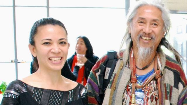 PAZ WITH FILMMAKER KIDLAT Tahimik (aka Eric de Guia) at 'Bastards of Misrepresentation' in Topaz