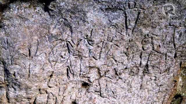 THE PETROGLYPHS. The Philippines' oldest known artwork is at a rock shelter up in the mountains of Rizal