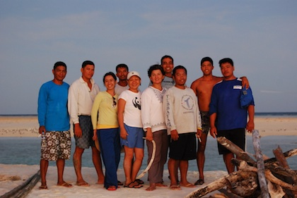 THE TUBBATAHA TEAM. Members of the Tubbataha Reefs Natural Park (TRNP) led by its head, Angelique Songco (6th from left). Photo courtesy of TRNP.