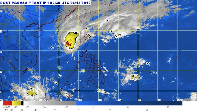 MTSAT ENHANCED-IR Satellite Image as of 11:30 a.m., 08 December 2012