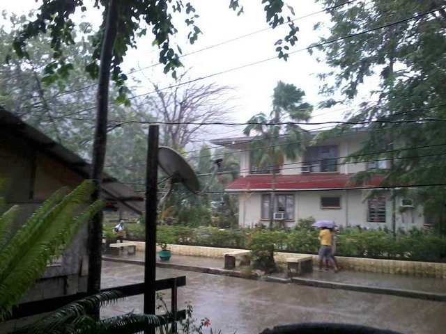 WINDY. Residents in El Nido town in mainland Palawan experiencing strong winds. @ElNidotourism tweets this picture at around 9 am, December 5