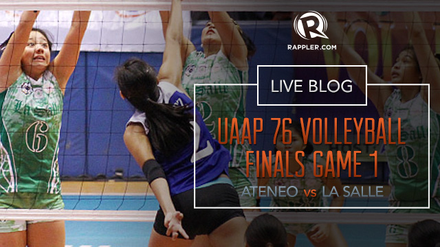 HIGHLIGHTS: UAAP Volleyball Finals, Ateneo vs La Salle Game 1