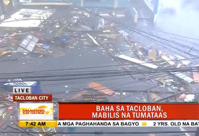 umagangkayganda-tacloban-flooding-youtube-20131108 - Typhoon Yolanda lashing: Images - Philippine Business News