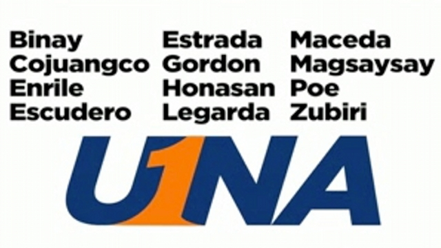 Screenshot of UNA senatorial slate ad that began airing January 7