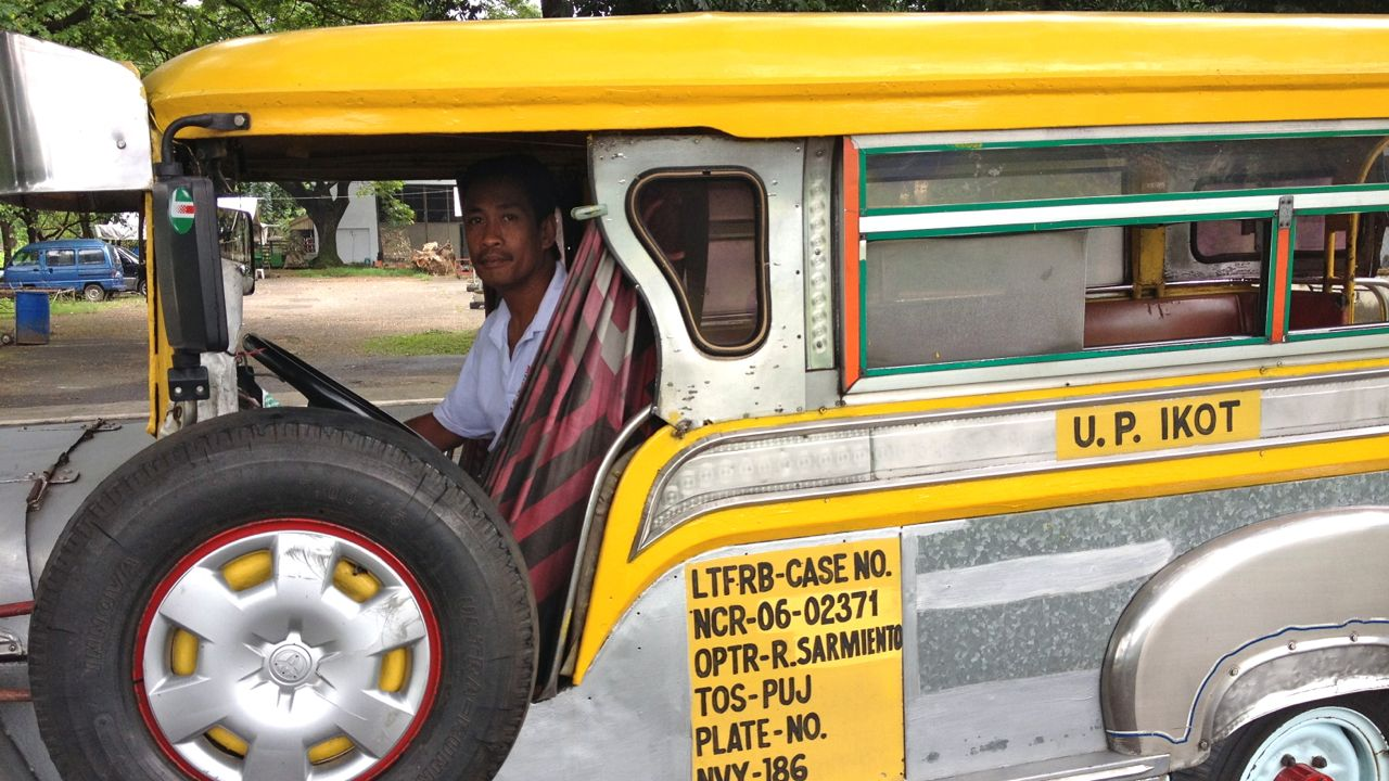 DRIVERS ARE SCARED. How will the UP monorail project affect the UP Ikot jeepney drivers? All photos by Alcuin Papa