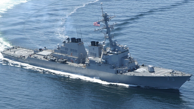 'PIVOT TO ASIA.' America says the visit of USS Decatur, along with two other warships, highlights 'strong' US-Philippine relations. Photo from the US Navy