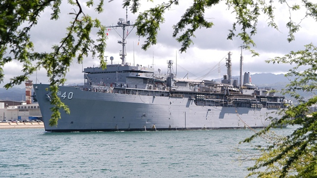 USS FRANK CABLE. This vessel arrives in Cebu with a crew of about 1,500. Photo from the US Navy