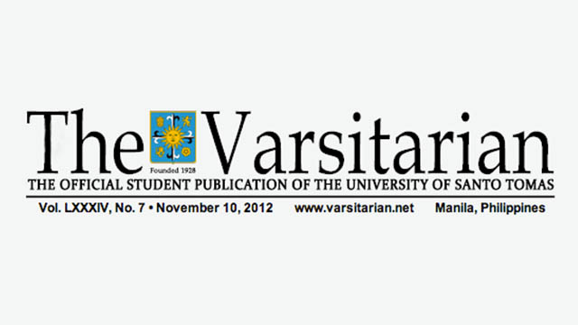 'BIASED' MEDIA. The Varsitarian said commercial media has pushed for the passage of the reproductive health bill. 