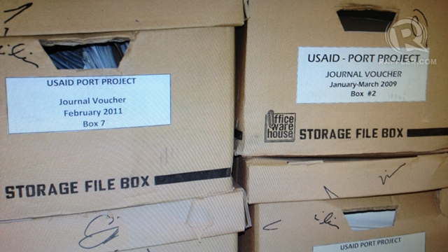 CONFISCATED BOXES. Visayan Forum wants to regain custody of 35 boxes of allegedly faked receipts that the NBI confiscated
