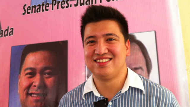 VICE MAYORALTY CANDIDATE. Vic-Vic Magsaysay, son of senatorial candidate Mitos Magsaysay, is running for Olongapo City vice mayor. Photo by Ayee Macaraig