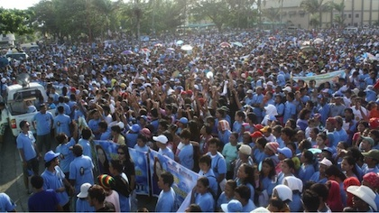 MOBILIZATION. Oppositionists begin to organize in Baybay City. Photo from Malot Galenzoga's Facebook page.