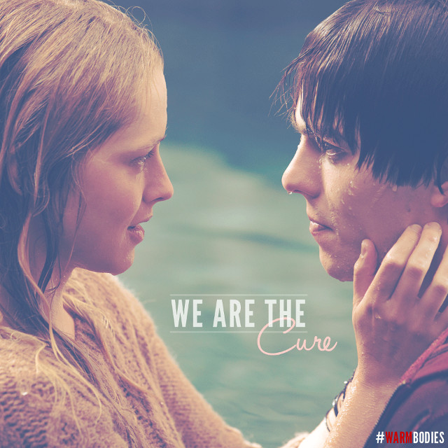 ZOMBIE LOVE STORY. 'Warm Bodies' stars Teresa Palmer and Nicholas Hoult. Image from the 'Warm Bodies' Facebook page