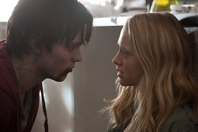 RADICAL ROMANCE. Nicholas Hoult and Teresa Palmer meet up in 'Warm Bodies.' Photo by Summit Entertainment