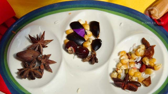 These 'binhi' (seeds) were taken by participants as part of a meditation on intention