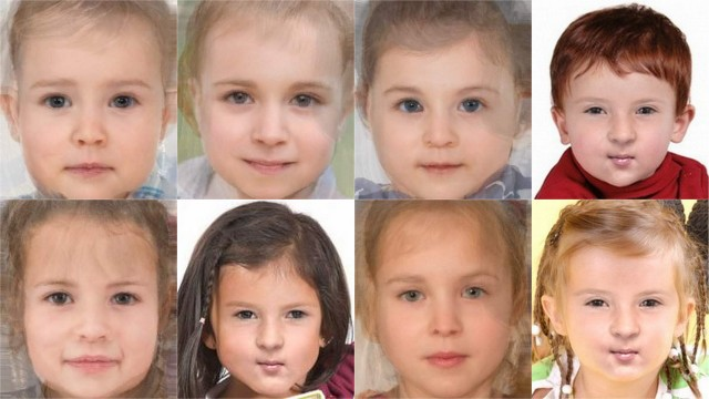 ROYAL BABY FACES. First row shows boys; second row shows girls