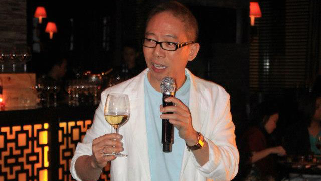'THE PHILOSOPHY IS STILL THAT TO DRINK IS TO GET DRUNK.' Manny Osmeña at an event in Buddha Bar in Makati. Photo by stAmp (sic) Photography from the Manny O Wines Facebook page