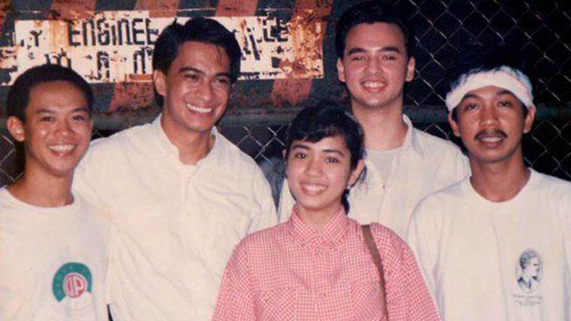 OLD TIMES. The author (2nd from left) with the young Alan Peter Cayetano (4th from left)