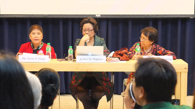 REFLECTIONS. (From left) Ceres Doyo, Jo-Ann Maglipon and Marites Vitug have all faced libel lawsuits in their career as journalists. All photos by Pia Ranada